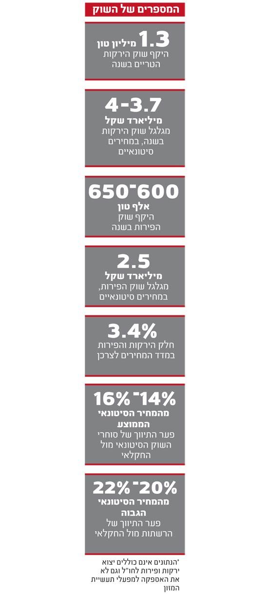 המספרים של השוק